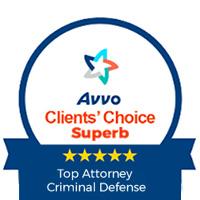 Avvo: Clients' Choice Superb. Top Attorney Criminal Defense.